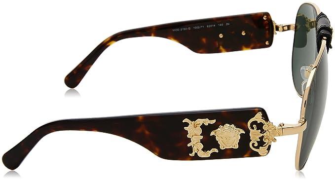 62 De Montures Versace LunettesOrgoldgrey 0ve2150q 100271 Green pqUzSMVG