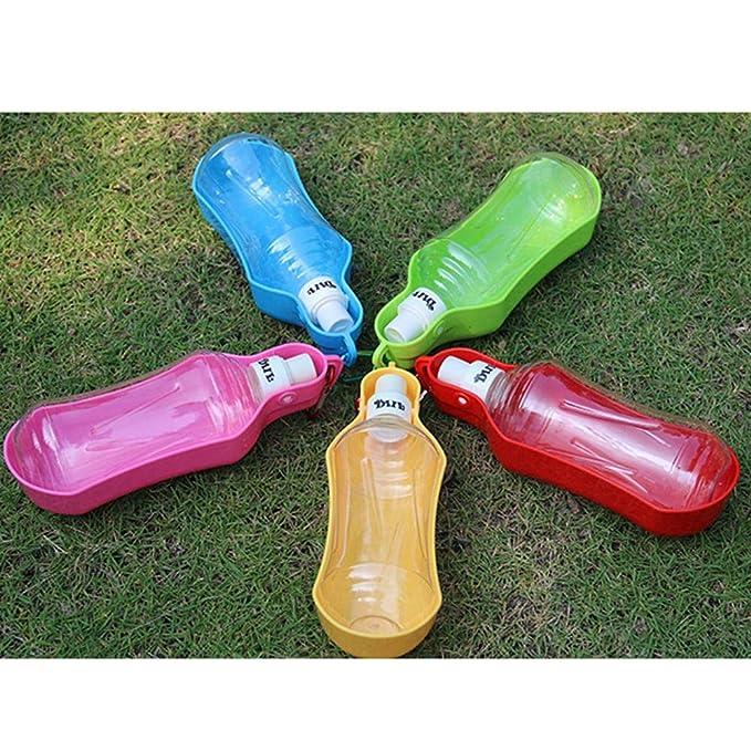 AOLVO Bebedero Perro Portátil Plástico, Botella de Agua de Viaje para Mascotas: Amazon.es: Hogar