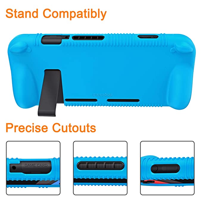 Amazon.com: Fintie Silicone Case for Nintendo Switch - Soft [Anti-Slip] [Shock Proof] Protective Cover with Ergonomic Grip Design, Drop Protection Comfort ...