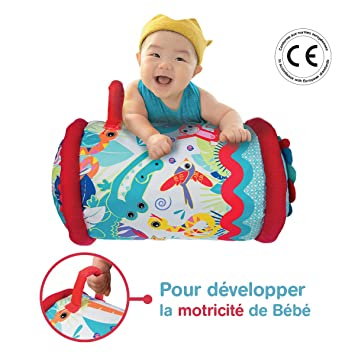 b2be301ff1d1a5 Ludi Baby Roller 40 x 25 cm ab 6 Monaten Aufblasbare Rolle zur ...