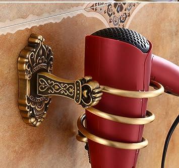 LD&P Soportes para secador de pelo Secador de pelo del baño antiguo, Estantes de pared
