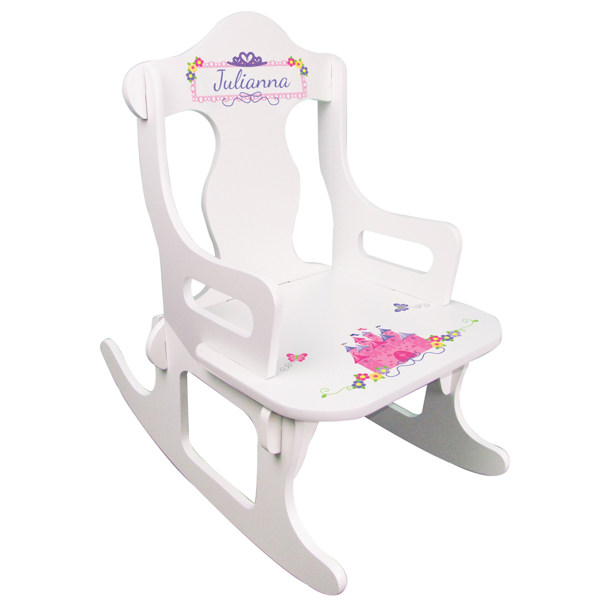 Personalized Child's Princess Puzzle Rocking Chair