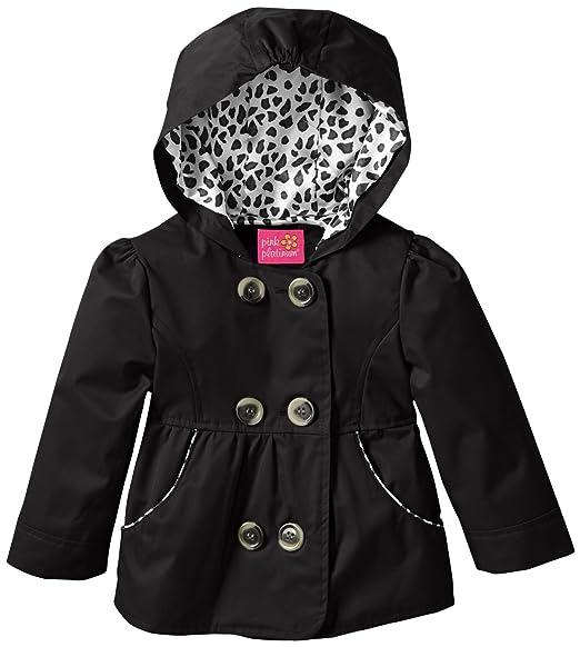 Pink Platinum - Chaqueta impermeable - Gabardina - Animal Print - Manga Larga - para bebé niña negro 18 meses: Amazon.es: Ropa y accesorios