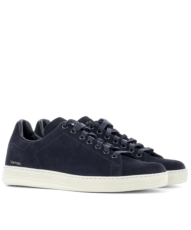 eb52eb7c9a6d6 Tom Ford Herren J1045TCGRBLUE Blau Wildleder Sneakers: Amazon.de ...