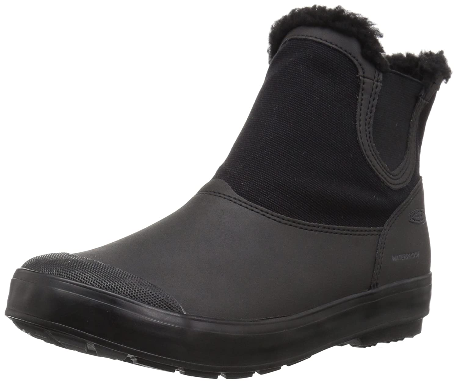 KEEN Women's Elsa Chelsea Waterproof Boot B01MTOTB80 9 B(M) US|Black/Black