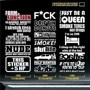 Jdm stickers pack racing decal driftindonuts old school slutlife nude milf hunter slammed society truck bumper