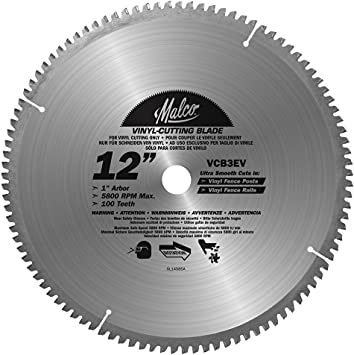 Malco Vcb3 Ev 12 Inch Fence Post Cutting Circular Saw Blade Amazon Com