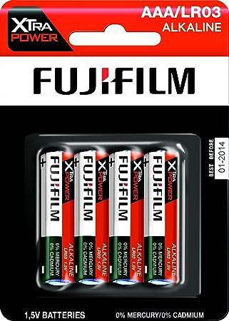 Fujifilm 4048347 - Pack de 4 pilas alcalinas (LR03, AAA, 1.5 V): Amazon.es: Electrónica