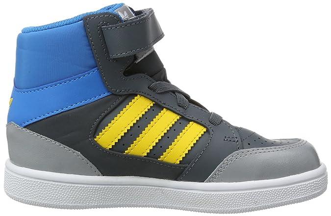 adidas Pro Play CF I-9, Botines Unisex, para ni&ntildeos, Azul-Lead/Sunshine/Solar Blue, 38 EU: Amazon.es: Zapatos y complementos