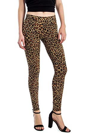 4c67a3734710ab Amazon.com: Women's Leopard Leggings - Halloween Costume Cat ...