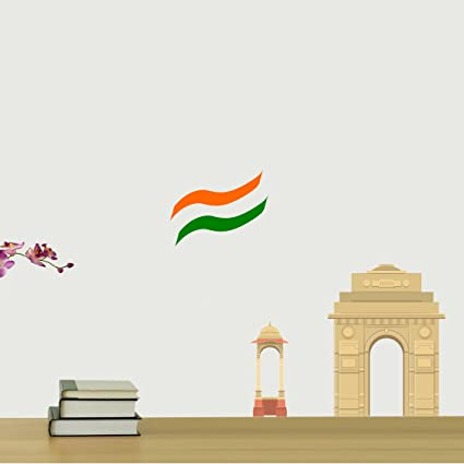 Orka India Gate Digital Printed Pvc Vinyl Wall Decal    Pack Of 1   55Cm X55Cm  Wall Stickers