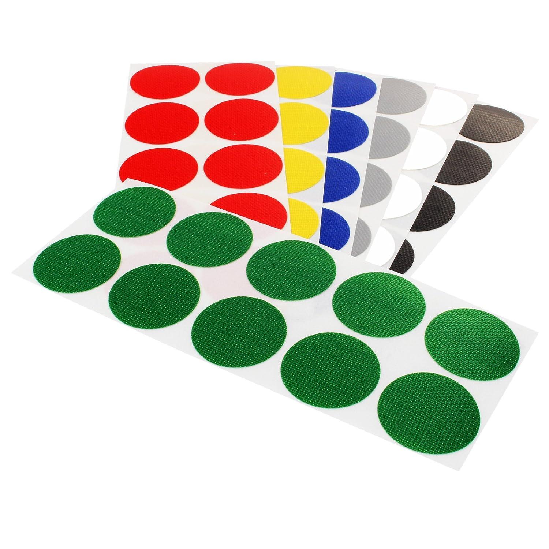 Klebepunkte farbig PE-beschichtete Markierungspunkte Bunte Klebepunkte Menge /& Durchmesser w/ählbar Farbe