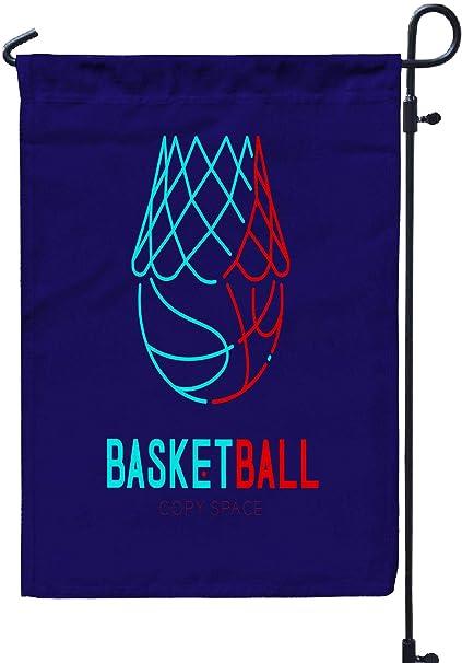 Rob565len Garden Flag Funny Flag 12x18 Inches Basketball in Hoop ...