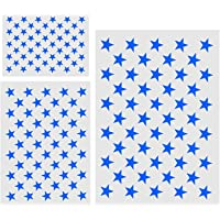 3Pc Star Stencil 50 Stars American Flag Stencils for Painting on Wood, Fabric, Airbrush,Reusable Starfield Stencil, (1…