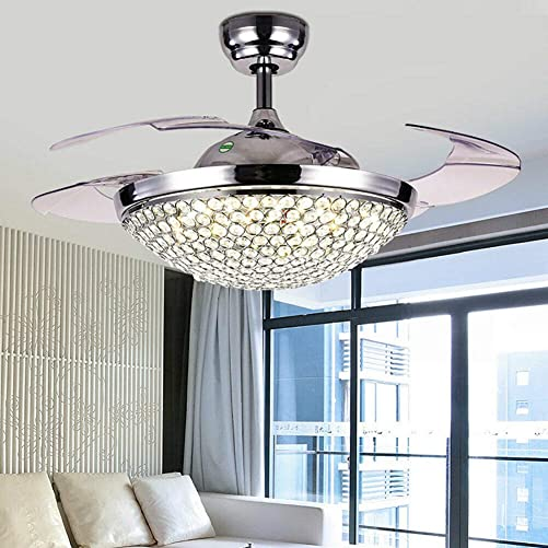 TFCFL 42 Inch Crystal Ceiling Fan Chandelier
