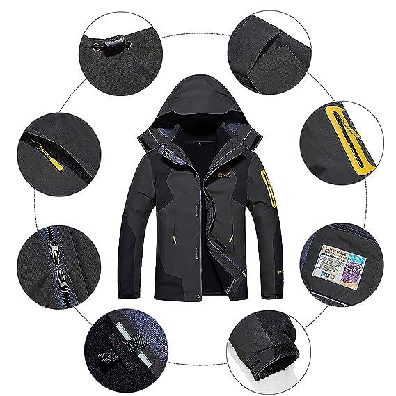 313c45b55 Amazon.com  Dnstar Men s 3in1 Fleece Big and Tall Jackets Winter ...