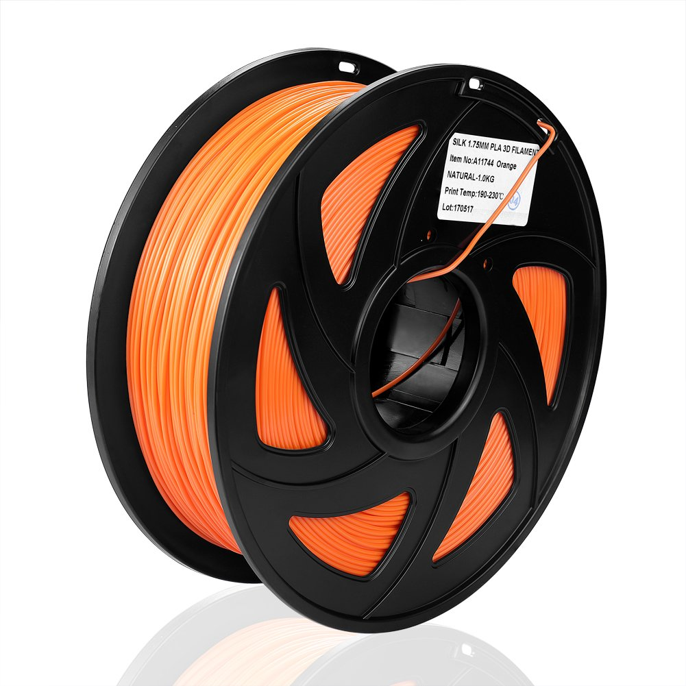 S SIENOC 1 paquete de filamento impresora 3D PLA 1.75mm Impresora - Con 1 kg de carrete (PLA naranja)