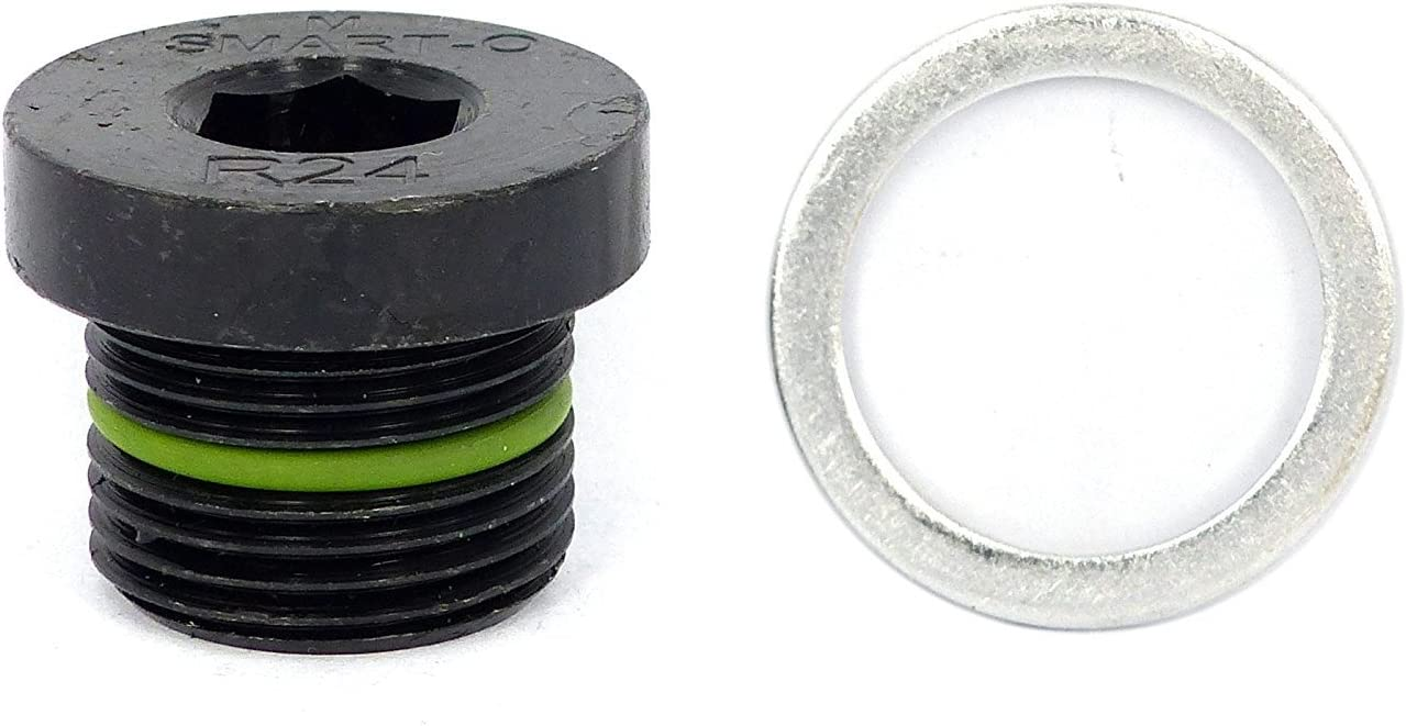 Install Faster Re-usable and Eco-friendly by SMART-O Engine oil Pan Protection Plug with Anti-leak /& Anti-vibration function SMART-O R5 Oil Drain Plug M12x1.5mm