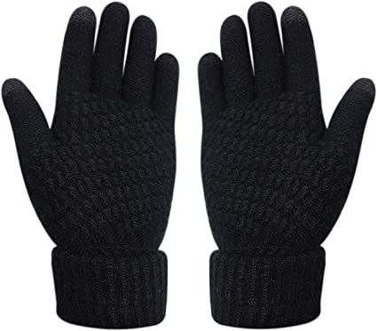 Womens /& Girls Touch Screen Warm Soft Winter Knit Texting Gloves Cute Fashion Mittens for Smartphone Iphone Ipad