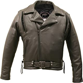 product image for American Bison Vented Biker Jacket Black