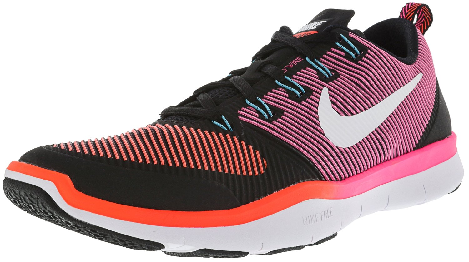 NIKE Men's Free Train Versatility Running Shoes B014GDRNM4 9.5 D(M) US|Black / White / Total Crimson / Hyper Pink