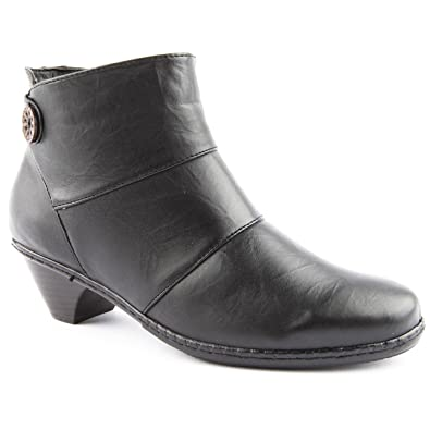 ceaf601408e Ladies Caravelle Extra Wide Fit Ally Black Ankle Boots Size 8 ...
