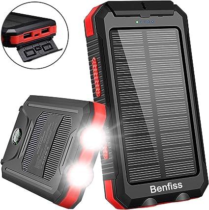 : Solar Charger, Benfiss 20000mAh Lit Solar Power
