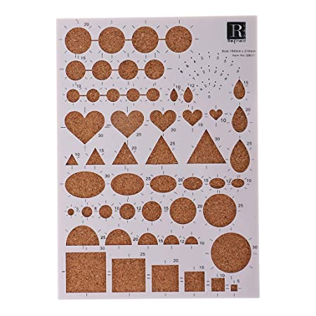 B Baosity Diy Paper Quilling Template Board Papercraft For