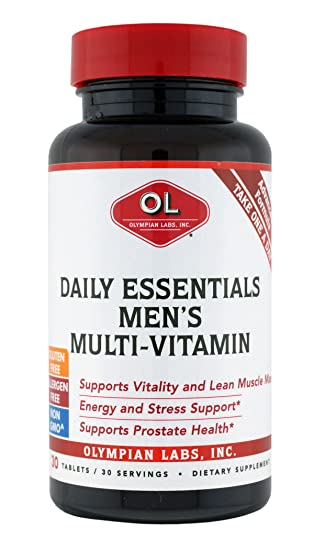 Amazon.com: Olympian Labs Daily Essentials Multivitamins for Mens, 30 Tablets: Health & Personal Care