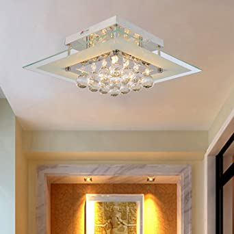 OOFAY LIGHTRSimple And Elegant Crystal Light 5 Head Ceiling For
