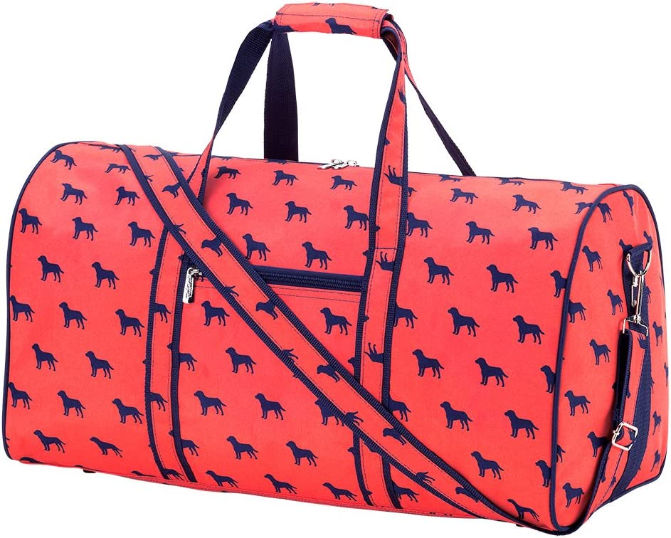 High Fashion 21 in Print Duffle Personalized Dog Days