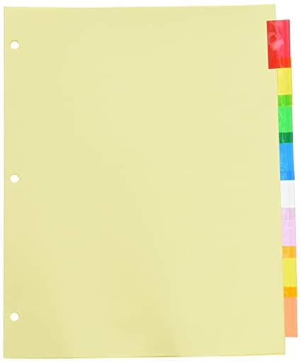amazon com wilson jones insertable binder tab dividers 8 tab
