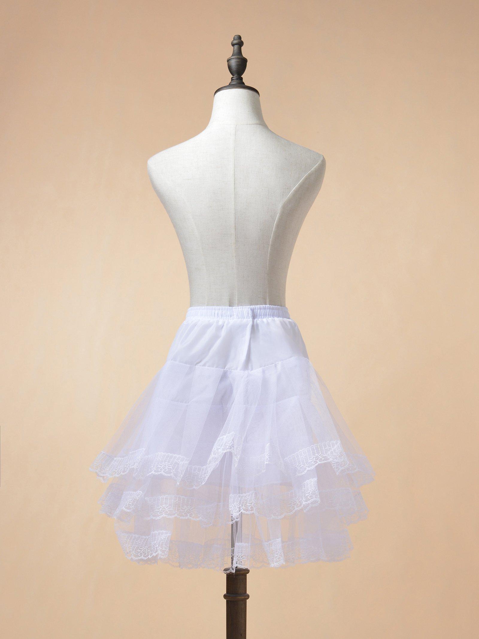 Remedios Kids Mini White Petticoat Flower Girl Wedding Underskirt Cocktail Dress Crinoline Slip White by Remedios (Image #5)