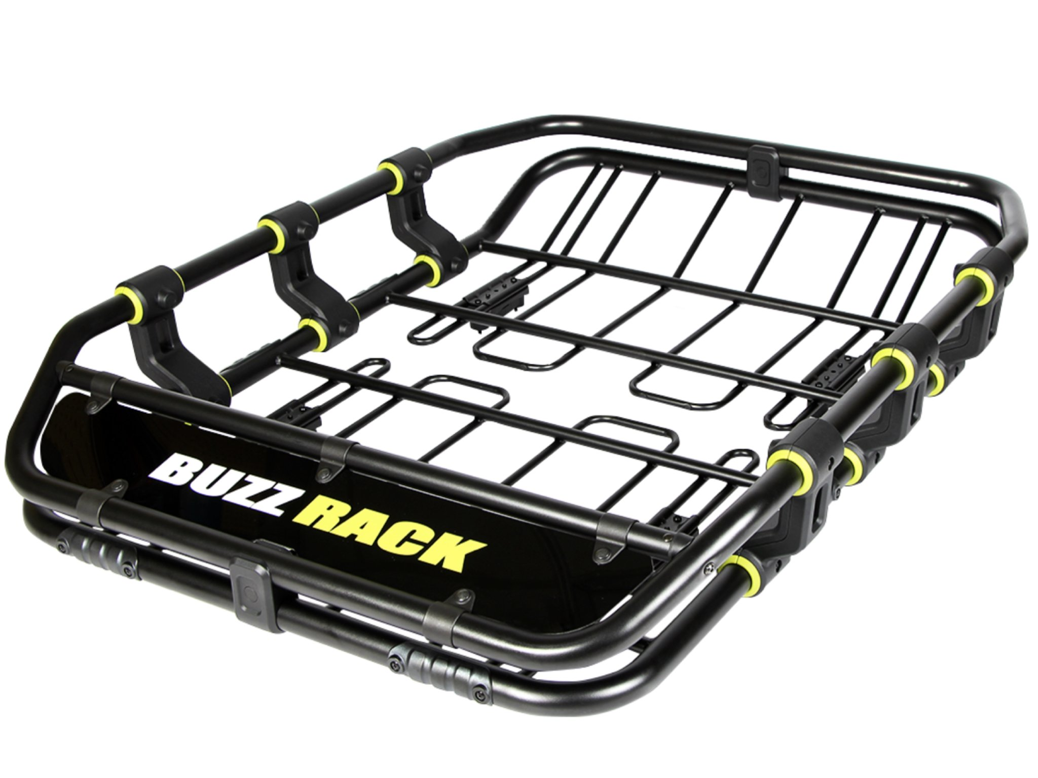 BUZZ RACK ATOMIC BUZZ Super Duty Roof Cargo Basket Luggage Carrier Rack with Wind deflection & Removable Extension Kit (47 in x 35 in x 6)