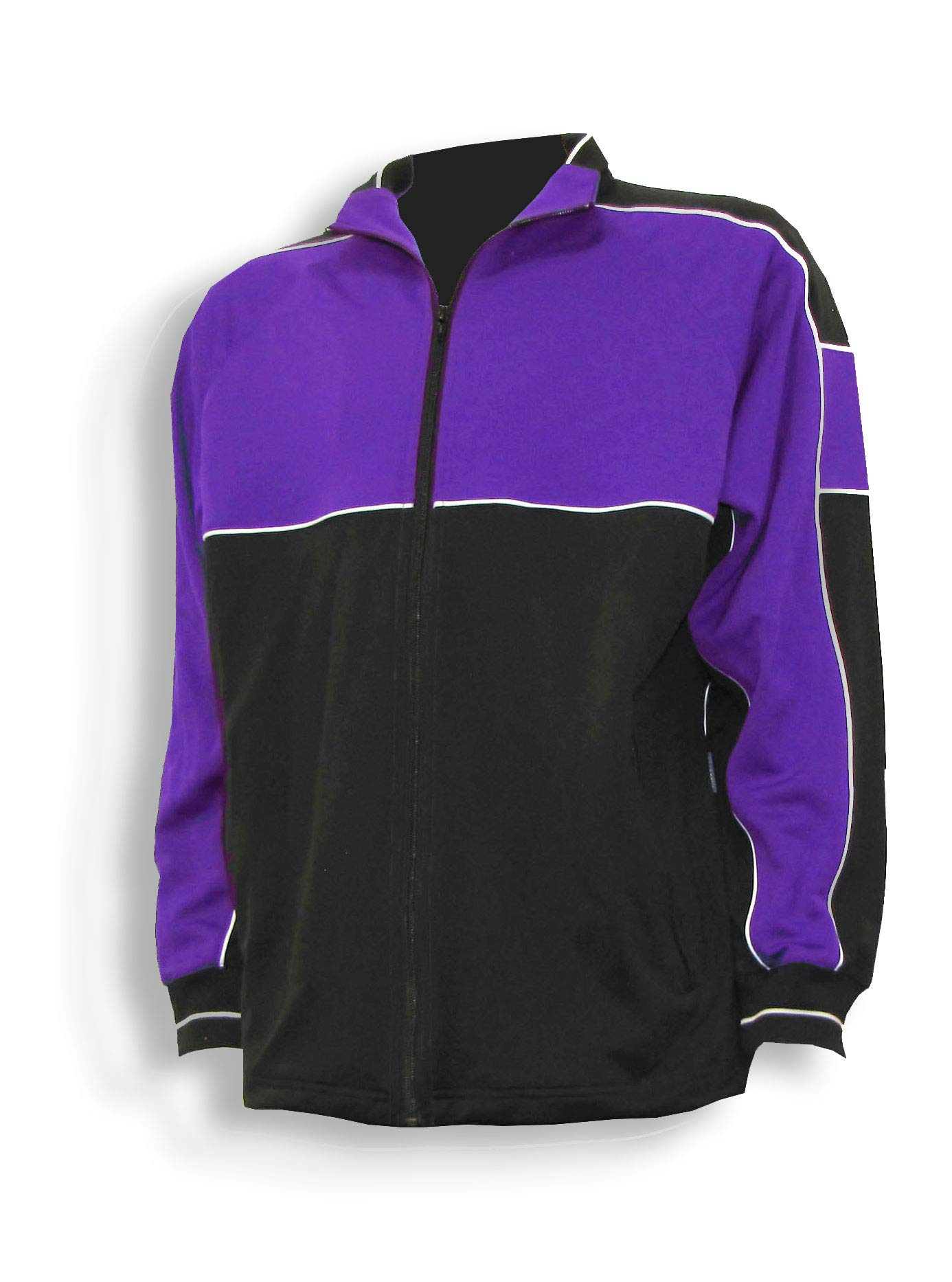 Code Four Athletics Sparta Soccer Poly-Knit Warmup Jacket - Size Adult L - Purple/Black by Code Four Athletics