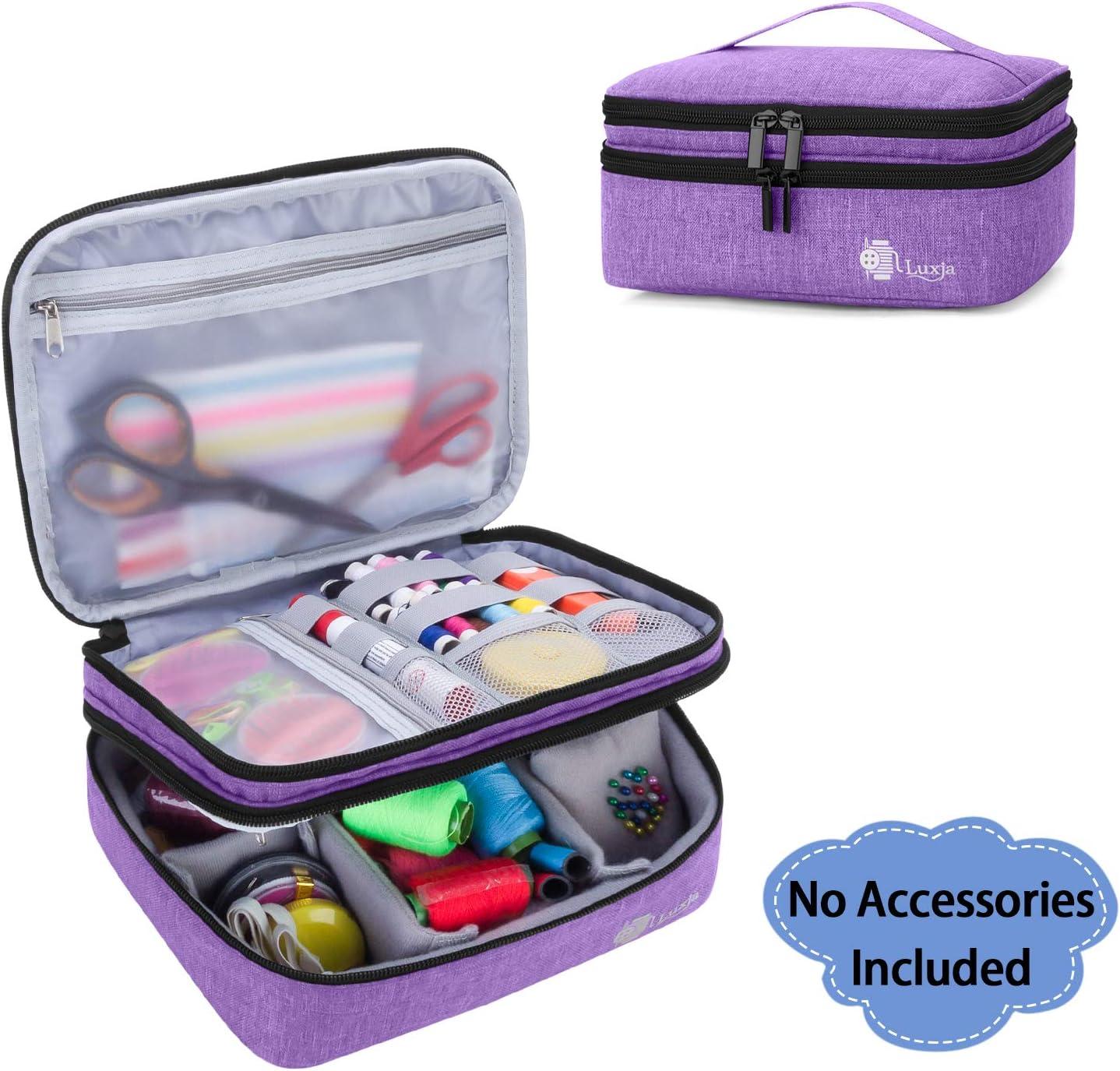 Purple Knitting Needles Case Magnetic Pin Cushion Sewing Storage Box Handcraft Needlework Sewing Tools Organizer Metal Needle Accessory