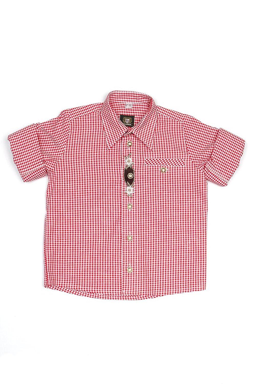 Ludwig & Therese Trachtenhemd Kinder Matteo rot K030009