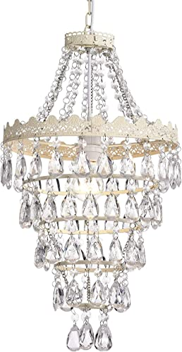 Small Chandelier Mini White Chandeliers Modern Crystal Chandelier Lighting 1 Light Round Pendant Light Fixtures 5 Ring Hanging Chandelier