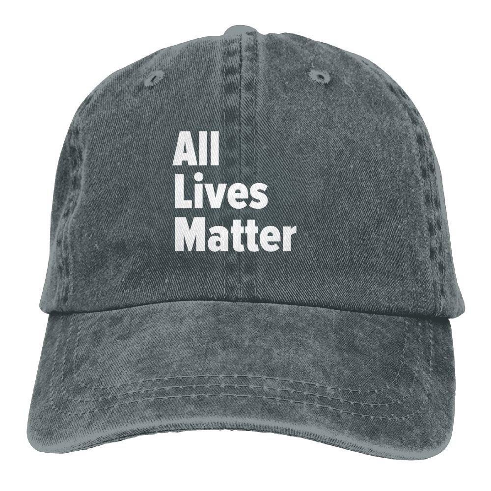 All Lives Matter If All Lives Plain Adjustable Cowboy Cap Denim Hat for Women and Men
