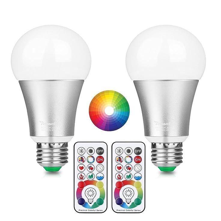 15 opinioni per LemonBest 10W E27 RGBW ha cambiato la lampadina a colori con 17 tasti remoti IR,