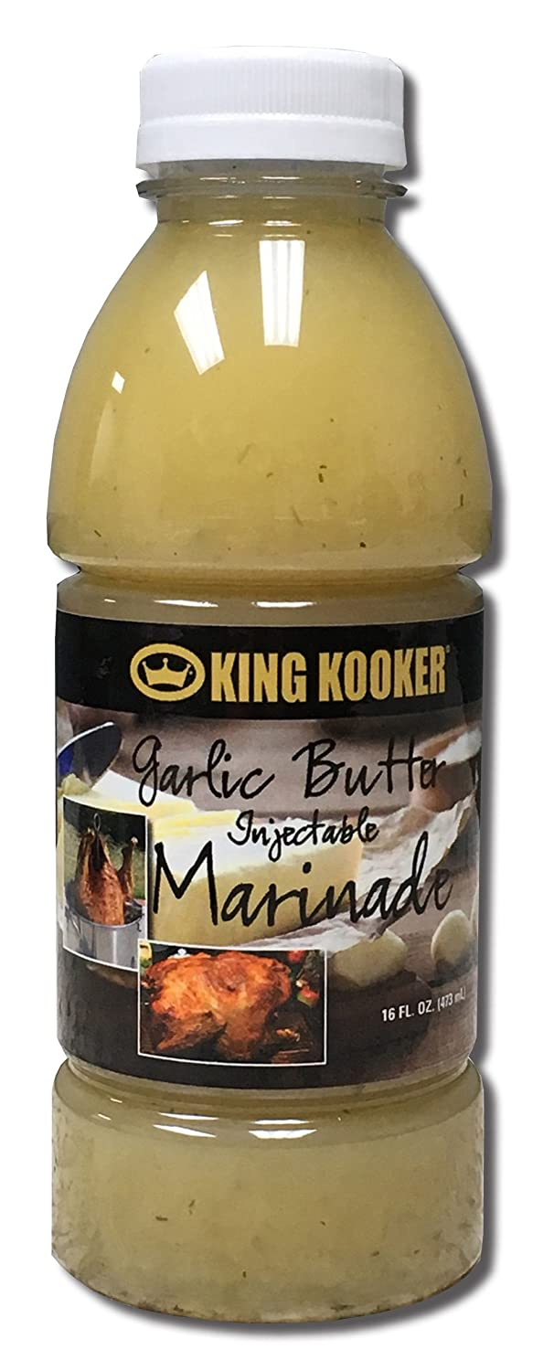 King Kooker 96048 16-Ounce Garlic Butter With Herbs Injectable Marinade