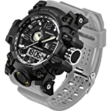 Men's Watch Military Waterproof Sports Digital Watch Big Wrist for Men Dual-Display Army Tactical Wristwatch