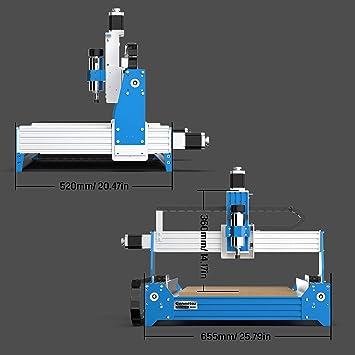 Genmitsu m/áquina fresadora CNC PROVerXL 4030 fresadora cortadora y grabadora CNC de 3 ejes /área de trabajo XYZ 400 x 300 x 110mm controlada por GRBL bastidor de viga C