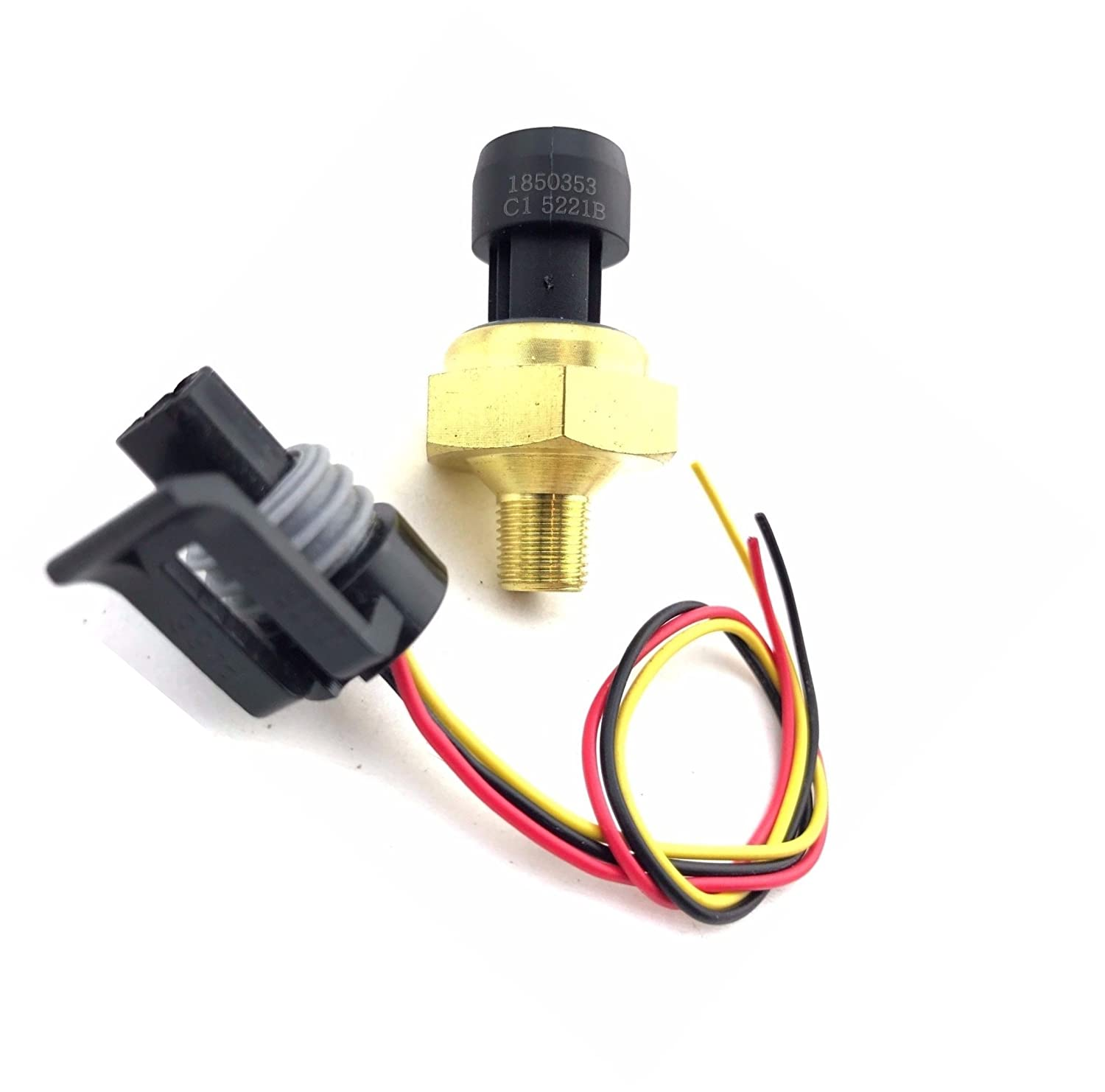 EBP EGR Exhaust Back Pressure Sensor fits Ford Powerstroke 7.3L 6.0L 1997-2003 Replaces 1850353C1 4C3Z-9J460-A DPFE-3 Coil Glow Plug Pigtail Included Top Quality Brand New fengtai