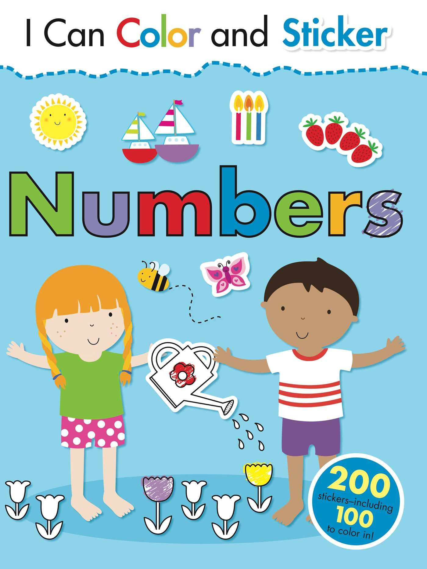 Amazon.com: I Can Color and Sticker: Numbers (9781499800630): Gemma ...