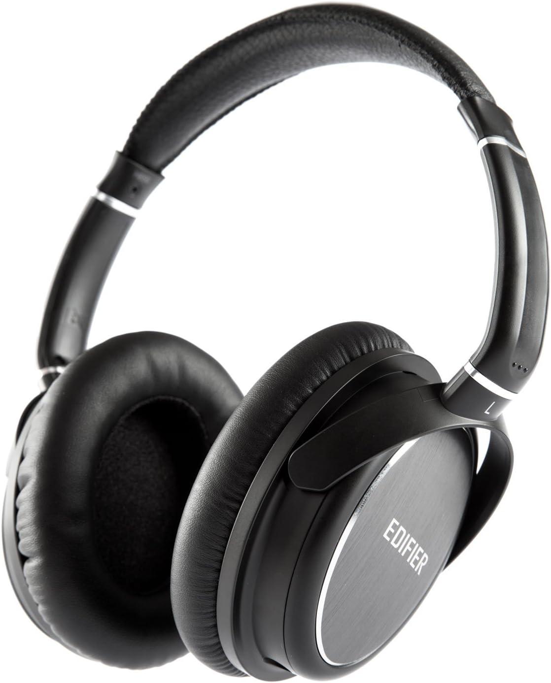 Edifier H850 Auriculares Pro Circumaural Cerrados Ligeros y Cómodos Over-The-Ear con Cable Tamaño Único con Diadema Banda de Cabeza Ajustable para Audiófilos y Profesionales - Negro