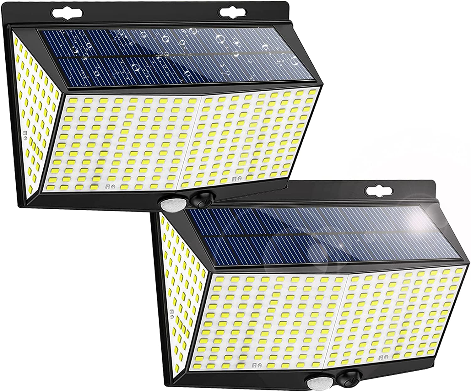 Solar Motion Sensor Lights Outdoor,288 LEDs Solar Outdoor Wall Light with 270° Wide Angle for Outdoor Waterproof Motion Sensor Lighting in Patio,Garden,Yard(2 Pack)