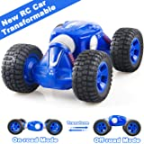 Remote Control Car, RC Cars with 2.4Ghz, 4WD Off Road Monster Truck for Boys and Girls, 1/16 Scale Fast Speed Deformation Stunt Car with 2 Rechargeable Batteries