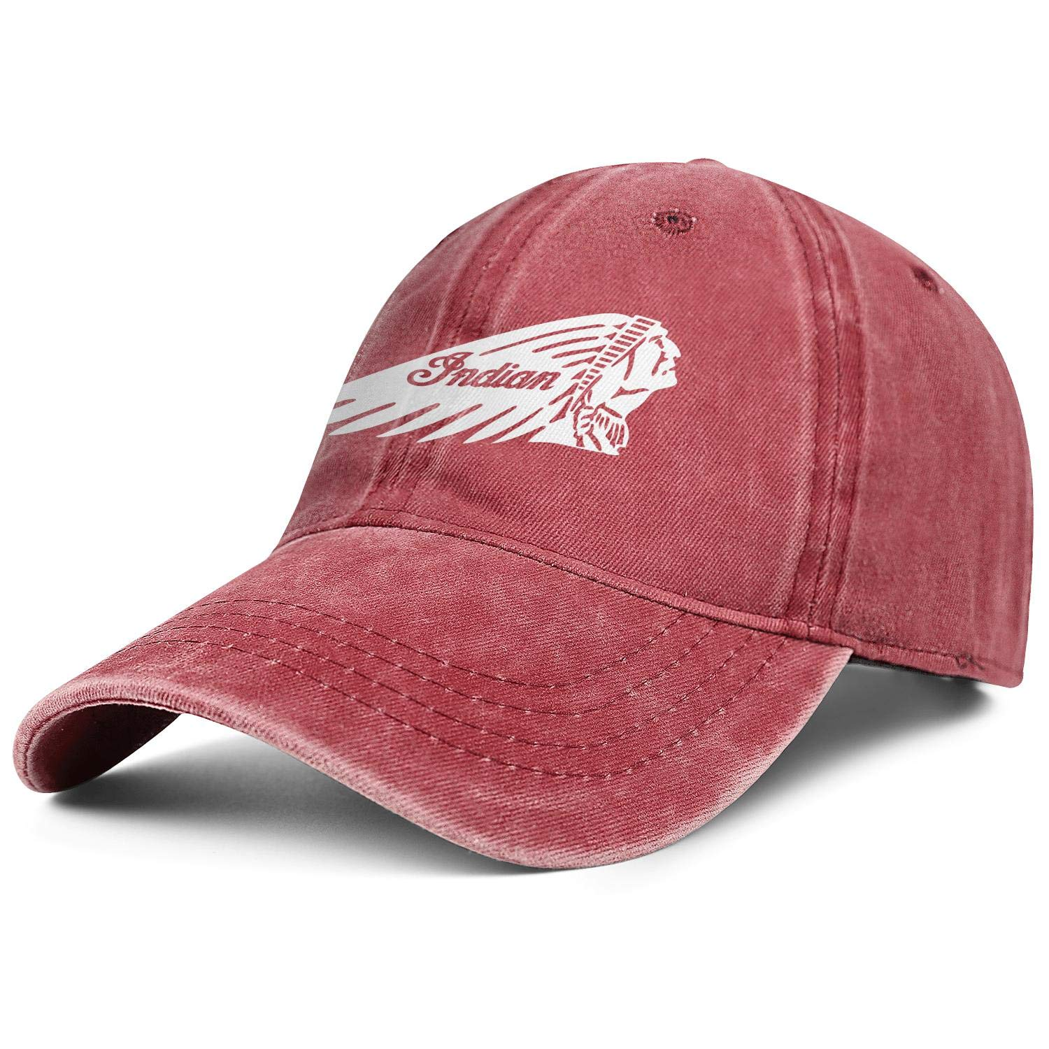 Casual Denim Hats coolgood Snapback Womens Men Trucker Caps Indian-Motorcycles-logp