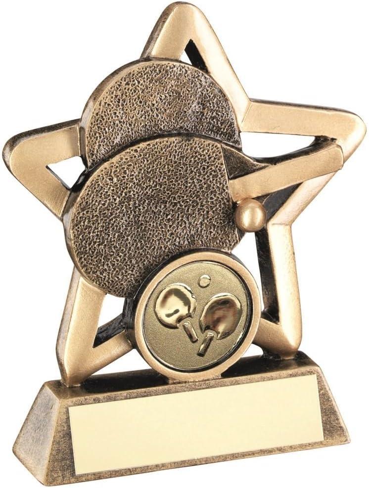Lapal Dimension BRZ/Gold - Mini Trofeo de Tenis de Mesa (1 en el Centro)